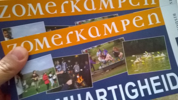 Folder Zomerkampen 2016 Bisdom Roermond