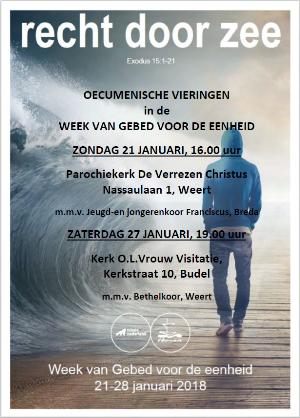 Week van gebed 2018, poster Weert