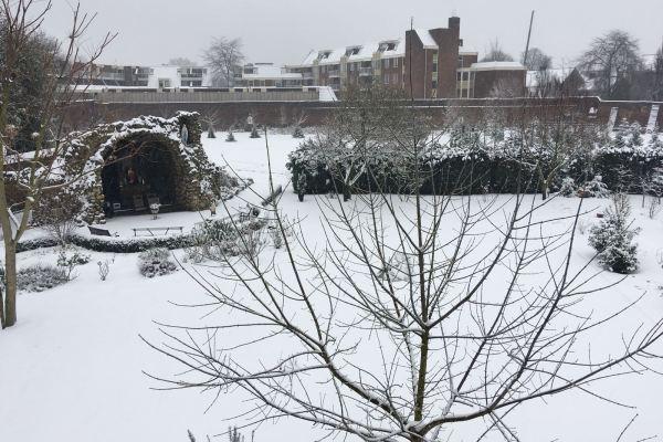 Kloostertuin in de sneeuw (grot)