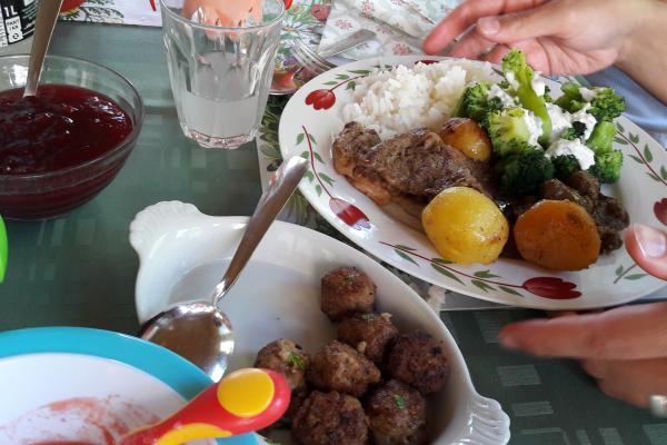Birgittinessen Djursholm: maaltijd