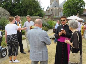 Oud-deken van Weert, Mgr. Van der Valk, was ook mede-organisator van onze jubileumdag.